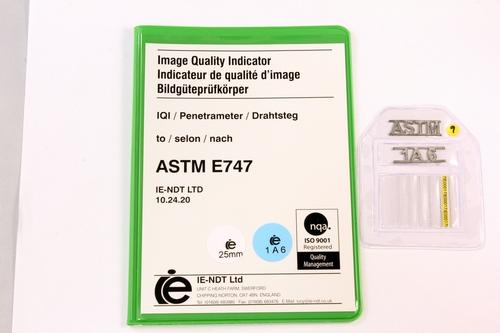 ASTM Wire Pene. 1A Steel 25mm