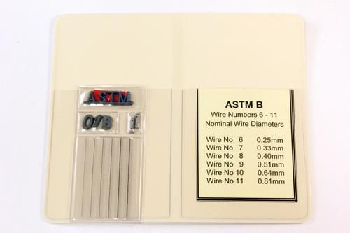 IQI TI SET B ASTM 50mm