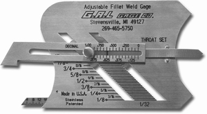 G.A.L. CAT3 Adjustable Fillet Weld Gauge
